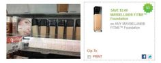 Maybelline Coupon | Fit Me Foundation only $2 at Walmart!