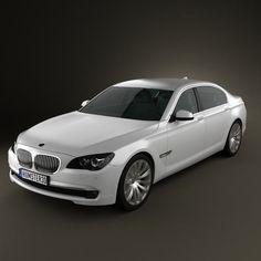 BMW 7-series Sedan 2011 3d model from humster3d.com. Price: $75