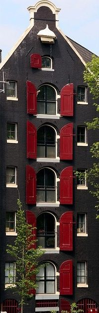 Red shutters, Amsterdam