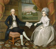 Oliver and Abigail Wolcott Ellsworth by artist Ralph Earl 1751-1801