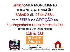 BONDE DA BARDOT: SP: Campanha de adoção de animais na Vila Monumento, neste sábado (09/04)