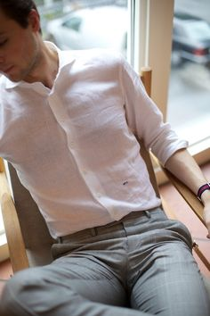 The perfect summer shirt.  Made to measure shirt byBelisario Camicie.