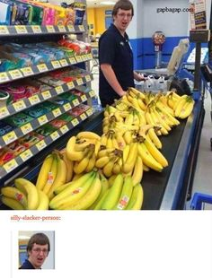 Funny Picture Of Shocked Man vs. Bananas
