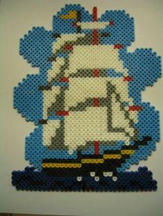 Big Ship hama beads by hoppeloppe