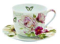 Taza de desayuno de porcelana . http://www.treboleregalos.com/te-y-cafe/28406-taza-de-desayuno-marche-aux-fleurs-8001544999159.html