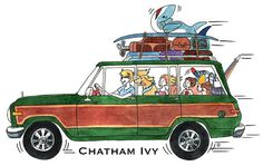 Nothing says New England pride more than a Chatham Ivy sticker on your ride! Decorate your laptop, phone or cooler too. Choose from our Land Cruiser, Sailboat, Wagoneer or Woody Wagon designs. Each sticker is made of thick, durable vinyl with a UV laminate that protects your die cut stickers from scratching, rain and sunlight. Sunfish 3 X 3. Car stickers 3 X 2. ** If purchasing a 2 pack please indicate which designs you would like!**