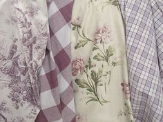 Vintage home antique French fabric ~ lovely purple