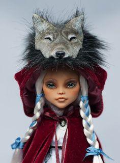 "OOAK Custom Art Doll Monster High Repaint ""Red Riding-hood"" by Selesta"