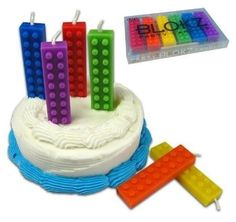 Put the perfect candles atop whatever you serve. | How To Throw The Ultimate LEGO Birthday Party