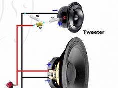 Conexiones muy simples para parlantes, Crossover Pasivo. + - Taringa! Diy Speakers, Speaker Wire, Diy Electronics, Electronics Projects, Car Audio Installation, Speaker Box Design, Subwoofer Box, Car Audio Systems, Hifi Audio