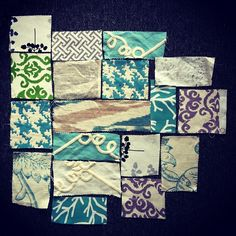 Inspiration exercise, fabric swatches... Pattern seeking. by Joshua Davis, via Flickr