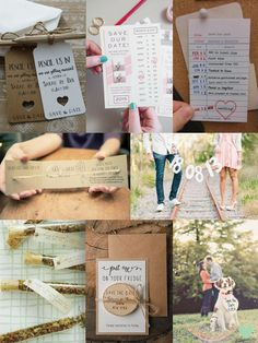 Cool #Wedding Save the Date Ideas Mood Board from The Wedding Community  #weddingideas