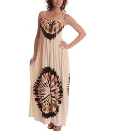 456db85053 Another great find on  zulily! Coffee Medallion Maxi Dress by Shoreline   zulilyfinds