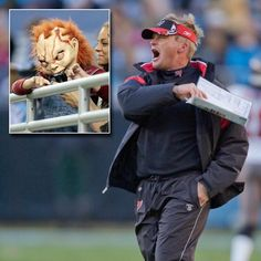 Coach does not disappoint fans. Coach Gruden admits to his annual Halloween costume, Chucky!!  Tampa Bay Buccaneers coach Jon Gruden.