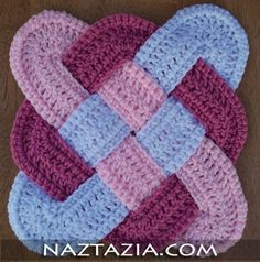 Crochet weaved hotpad potholder