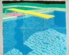 David Hockney, Plengeoir avec Ombre, 1978