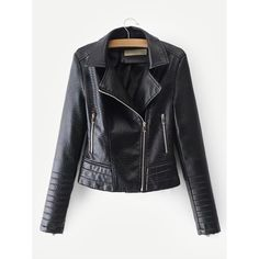 Faux Leather Croc Biker Jacket Black Faux Leather de808691acec0