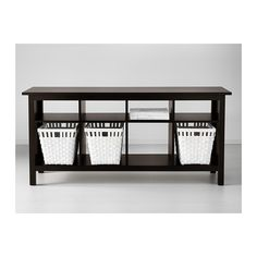 HEMNES Console table - black-brown - IKEA - for in window bay living room