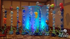 Balloons by Tommy - Photo Gallery - Miscellaneous Under The Sea Decorations, Balloon Decorations, Mermaid Theme Birthday, Ocean Party, Mermaid Baby Showers, Little Mermaid Parties, Under The Sea Party, Ballon, Birthday Balloons