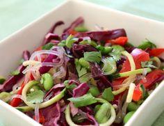 Raw lunch salad, gluten free, low-fat vegan