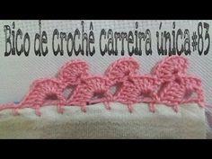 Olá pessoal bem-vindos na aula de hoje vim trazer esse bico de crochê carreira única espero que vocês. Picot Crochet, Crochet Cactus, Crochet Borders, Crochet Lace, Crochet Stitches, Crochet Curtains, Crochet Fabric, Crochet Designs, Crochet Patterns