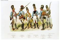 Bavarian infantry; Unteroffizier 1st Line (Lieb) 1806, Grenadier 4th Line 1806, Drummer 2nd (Kronprinz) 1807, Oberlieutenant 14th Line 1809, Unteroffizier 11th(Kinkel) 1810 & Jaeger 4th Light Infantry 1812