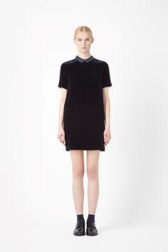 COS velvet shift dress