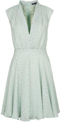 French Connection MEMPHIS SPRAY Dress green Mint Green Dress 88a8ec25a