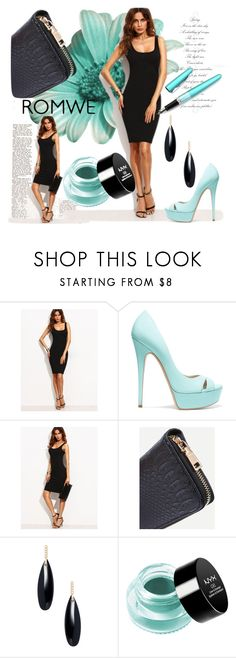 """Romwe"" by jasminka-m ❤ liked on Polyvore featuring Casadei, Fountain, Janis Savitt and NYX"