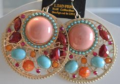 Stone Dream Catcher Earrings love the color combo