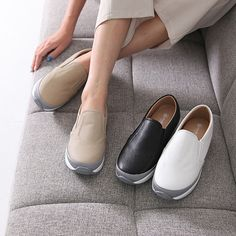 Made In Korea Women's Shoes Metal Point Buckle Bloafer Synthetic Leather 3 Color #DreamTree #LoafersMoccasins #Casual