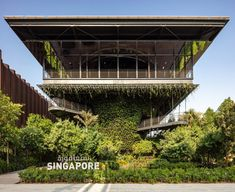 Set opposite the Grimshaw-designed Sustainability Pavilion and next door to the Dutch Pavilion in the expo's sustainability district, the Singapore Pavilion was designed to be a nature-filled place of retreat from the bustle of the event.