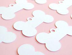 Bone shaped Favor tags Set of 24 by BluefinWorks on Etsy, $8.00