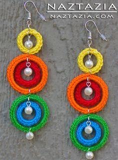 Crochet Earrings - Fun and colorful