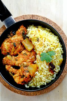 Mag's Spiced Tomato Chicken and a Quick Olive Oil Biryani