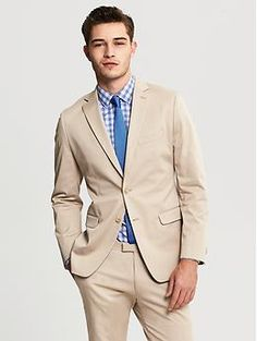 Tailored-Fit Italian Stretch Chino Suit Jacket