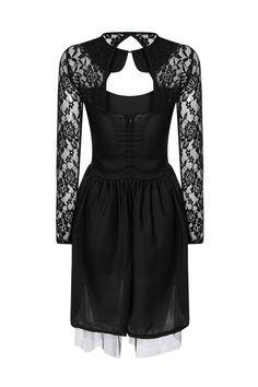Black Lace dress with Cut-out Details