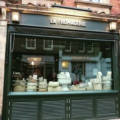 Cheese! Amazing shop front in Marylebone. #cheese #food #greatshop #favouritefood #fromage #lafromagerie #london