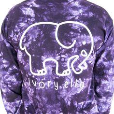 9fbd2084497b1 Classic Fit Purple Cloud Tie-Dye Tee