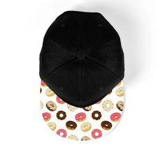 FREE SHIPPING coupon SHIPPY When spending over $28/£20/€26  donuts - funny snapback hat. This hat is one size fits all with a printed cap  IF YOU WOULD LIKE DIFFERENT DESIGNS WHEN SELECTING TWO, THREE OR FOUR SNAPBACKS. PLEASE LEAVE A NOTE OF THE PRODUCT CODES AT CART WHICH CAN BE FOUND AT