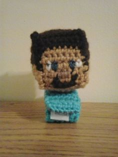 A co-worker saw the wrist rattlesnake that I had made.  He asked me if I could make a wrist rattle with Minecraft Steve's head on it.  Of ...