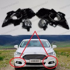Front Fog Lamps Driving Lights w/Bezels Kits for Ford Fusion Mondeo 2013-2016 | eBay Motors, Parts & Accessories, Car & Truck Parts | eBay!