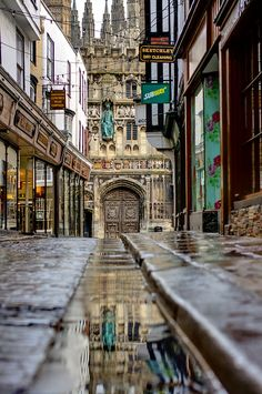 Mercery Lane, Canterbury, England,  UK