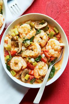 This Spicy Shrimp Diablo combines fresh vegetables, succulent shrimp and simmers in a spicy tomato sauce that is to die for. Try this low carb meal from Atkins & Chef'd today! Spicy Recipes, Seafood Recipes, Mexican Food Recipes, Low Carb Recipes, Chicken Recipes, Cooking Recipes, Healthy Recipes, Ethnic Recipes, Shellfish Recipes