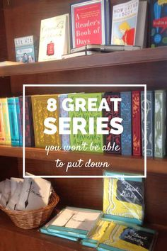 8 great series you won't be able to put down. 8 series, for a combined total of FIFTY books. Plenty here to appeal to readers of all ages. - The Time Quintet, Madeline L'Engle. I Love Books, Good Books, Books To Read, My Books, Summer Reading Lists, I Love Reading, Beach Reading, Reading Den, Reading Time