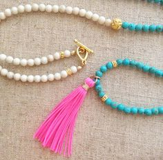 SPECIAL PRICE // Colorful Long Necklace  Bali by BonfimJewelry, $50.00