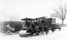 Road Steam - Van Historical photos. Caravans, Rollers, Historical Photos, Train, Outdoor, Historical Pictures, Outdoors, Outdoor Games, The Great Outdoors