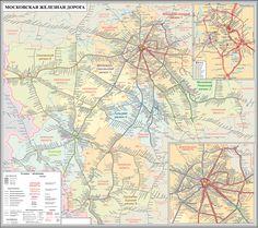 Карта МЖД с регионами. - Большое кольцо МЖД - БМО