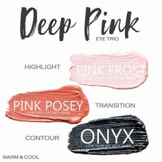Deep Pink Eye Trio uses three SeneGence ShadowSense : Pink Frost, Pink Posey and Onyx. These creme to powder eyeshadows will last ALL DAY on your eye. #shadowsense #trio #shadowsensetrio #eyeshadow #deeppink