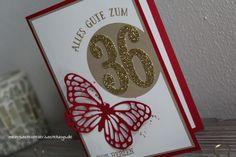 Geburtstagskarte - Stampin' Up! - Große Zahlen Framelits